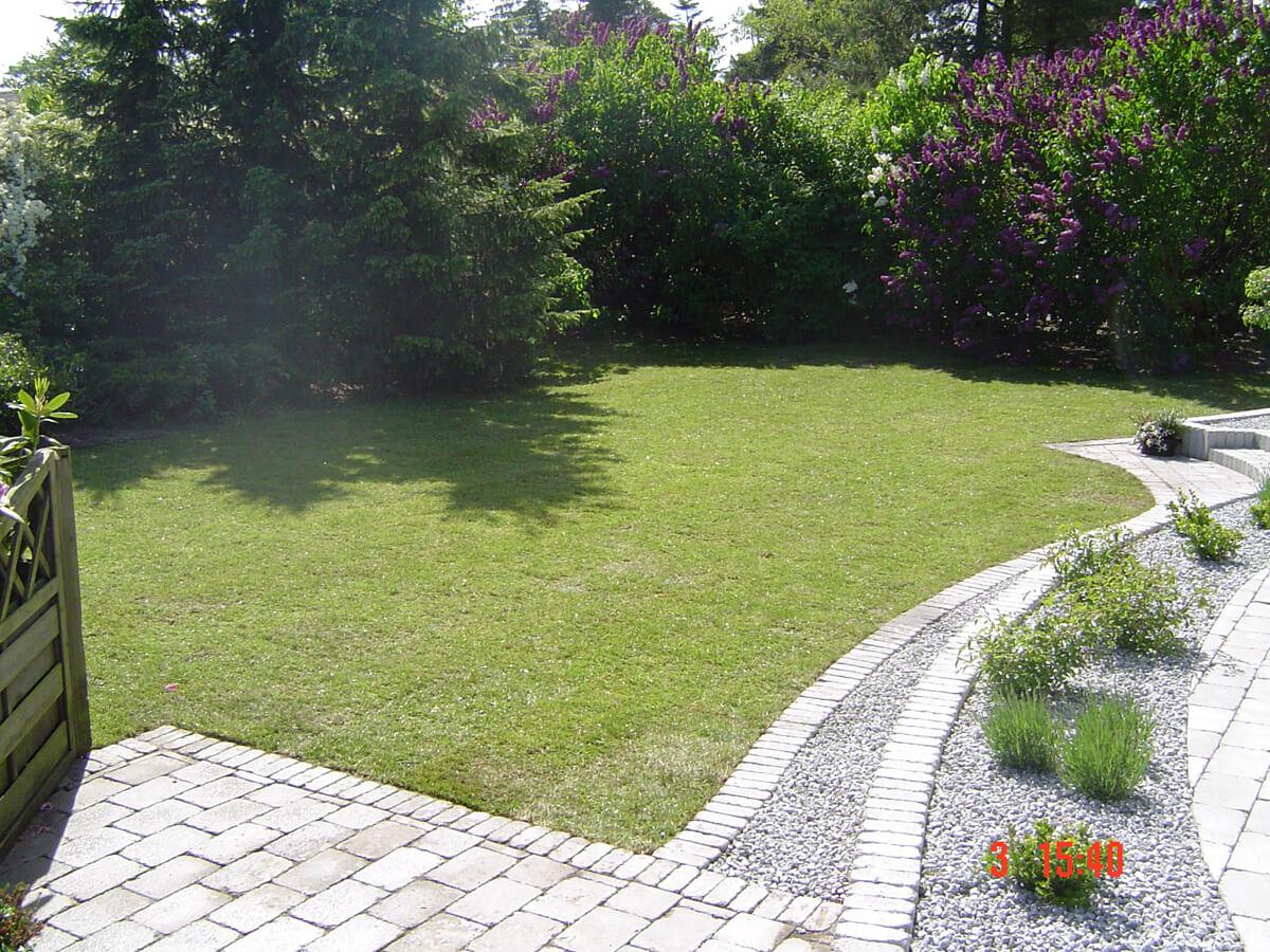 græsplænen er ujævn